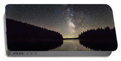 Milky Way Reflections In A Lake Portable Battery Charger