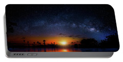 Portable Battery Charger featuring the photograph Milky Way Sunrise by Mark Andrew Thomas