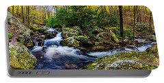 Mill Creek In Fall #4 Portable Battery Charger