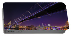Millennium Bridge At Night 2 Portable Battery Charger