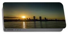 Portable Battery Charger featuring the photograph Milwaukee Sunset by Randy Scherkenbach