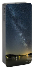 Milky Way From A Pontoon Boat Portable Battery Charger by Patrick Fennell