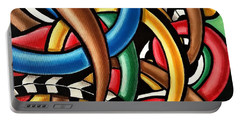 Mind Games - Abstract Energy Painting Portable Battery Charger