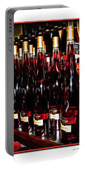 Portable Battery Charger featuring the photograph Miner Pink Sparkling Wine by Joan  Minchak