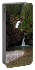 Portable Battery Charger featuring the photograph Mineral Creek Falls by Steve Stuller
