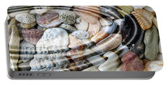 Portable Battery Charger featuring the digital art Minerals And Shells by Michal Boubin