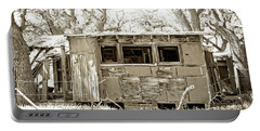 Portable Battery Charger featuring the photograph Miner's Camp by Timothy Bulone