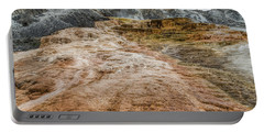 Portable Battery Charger featuring the photograph Minerva Hot Springs Yellowstone by John M Bailey