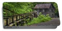 Portable Battery Charger featuring the photograph Mingus Mill 2 Mingus Creek Great Smoky Mountains Art by Reid Callaway
