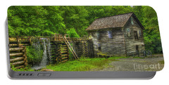 Portable Battery Charger featuring the photograph Mingus Mill 3 Mingus Creek Great Smoky Mountains Art by Reid Callaway