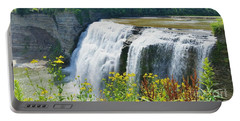 Portable Battery Charger featuring the photograph Mini Falls by Raymond Earley