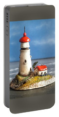 Miniature Lighthouse Portable Battery Charger by Wendy McKennon