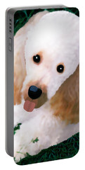 Portable Battery Charger featuring the photograph Miniature Poodle Albie by Marian Cates