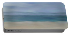 Portable Battery Charger featuring the photograph Minimal Beach by Andrea Anderegg