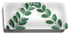 Portable Battery Charger featuring the photograph Minimal Green 2 by Andrea Anderegg