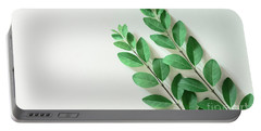 Portable Battery Charger featuring the photograph Minimal Green by Andrea Anderegg
