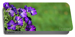 Minimal Petunias Portable Battery Charger by Barbara S Nickerson