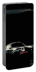 Portable Battery Charger featuring the digital art Minimalist Porsche by Sassan Filsoof