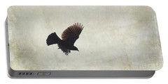 Portable Battery Charger featuring the photograph Minimalistic Bird In Flight  by Aimelle