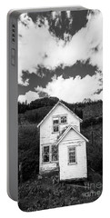 Mining Home In Silverton In Black And White Portable Battery Charger