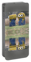 Minions In A Reflection Pool Portable Battery Charger by Kelly Awad