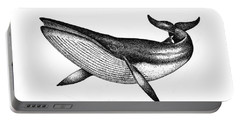 Minke Whale - Vintage Drawing Portable Battery Charger