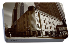 Portable Battery Charger featuring the photograph Minneapolis Downtown Sepia by Frank Romeo
