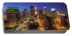 Minneapolis Skyline Art Marquette Avenue Portable Battery Charger