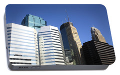 Portable Battery Charger featuring the photograph Minneapolis Skyscrapers 11 by Frank Romeo