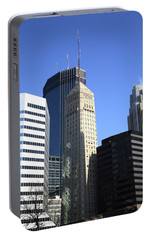 Portable Battery Charger featuring the photograph Minneapolis Skyscrapers 12 by Frank Romeo