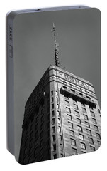 Portable Battery Charger featuring the photograph Minneapolis Tower 6 Bw by Frank Romeo