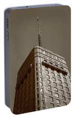 Portable Battery Charger featuring the photograph Minneapolis Tower 6 Sepia by Frank Romeo