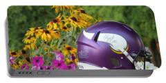 Minnesota Vikings Helmet Portable Battery Charger