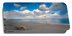 Minot Beach In Scituate Massachusetts  Portable Battery Charger