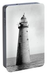 Portable Battery Charger featuring the photograph Minot's Ledge Lighthouse, Boston, Mass Vintage by Vintage