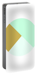Mint And Gold Ball- By Linda Woods Portable Battery Charger