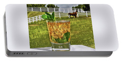 Mint Julep Kentucky Derby Portable Battery Charger