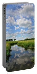 Mirror Image Of Clouds In Glacial Park Wetland Portable Battery Charger