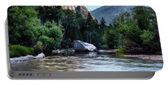 Portable Battery Charger featuring the photograph Mirror Lake- by JD Mims