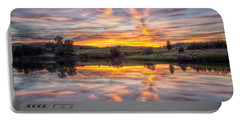 Mirror Lake Sunset Portable Battery Charger