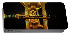 Mirrored Bridge Reflection Portable Battery Charger by Tom Claud