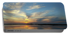 Portable Battery Charger featuring the photograph Mirrored Sunset by Liza Eckardt