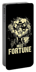 Miss Fortune - Vintage Comic Line Art Style Portable Battery Charger