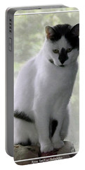 Miss Jerrie Cat With Watercolor Effect Portable Battery Charger