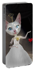 Miss Kitty Portable Battery Charger by Juli Scalzi