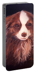 Portable Battery Charger featuring the painting Miss Pippin by Alan Lakin