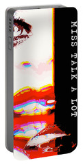 Miss Talk A Lot Portable Battery Charger by ISAW Gallery