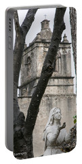 Mission Concepcion Closeup With Icon Portable Battery Charger