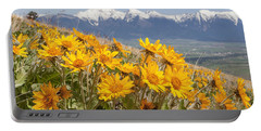 Mission Mountain Balsam Blooms Portable Battery Charger by Jack Bell