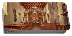 Portable Battery Charger featuring the photograph Mission San Francisco De Asis Interior by Susan Rissi Tregoning